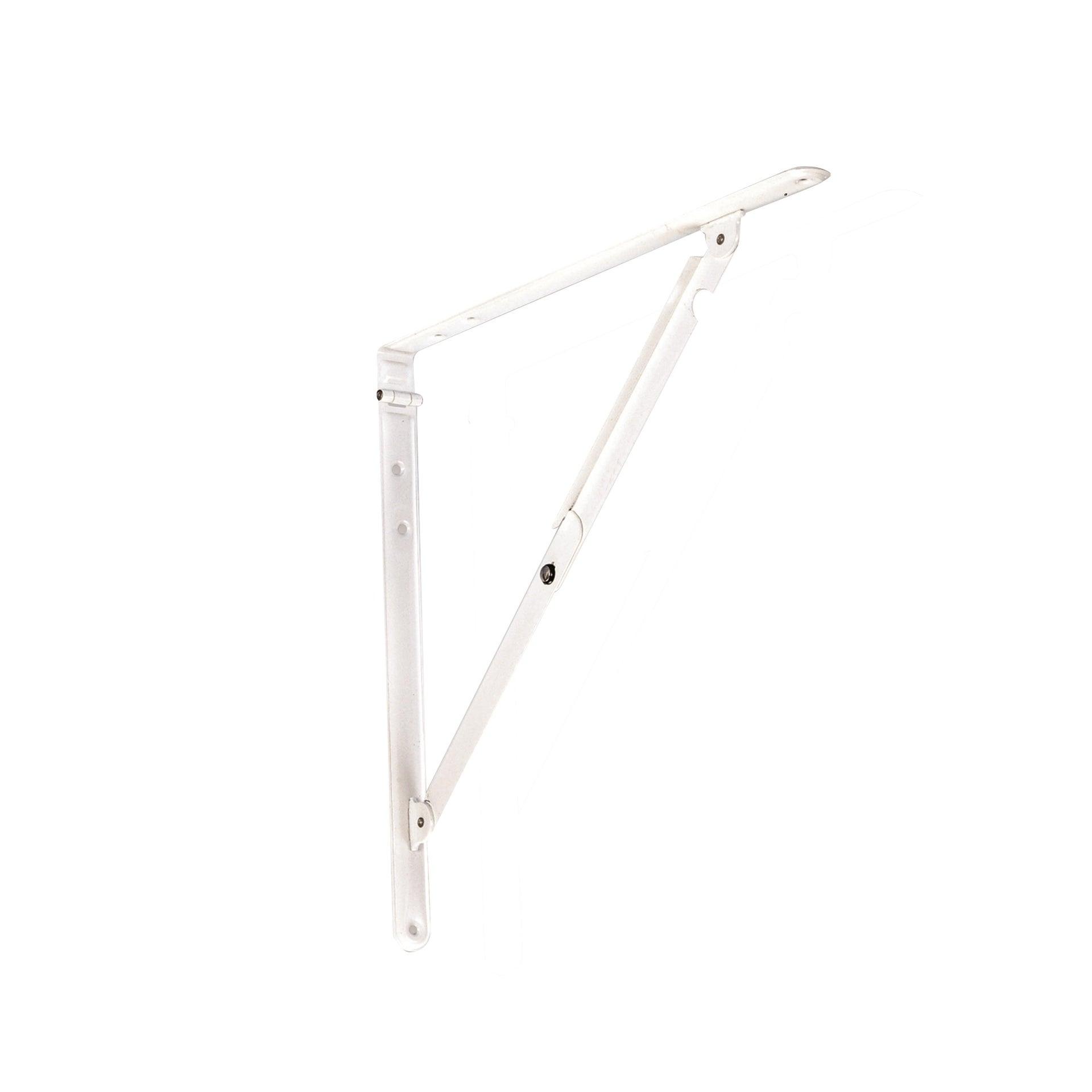Staffa ribaltabile Pieghevole L 30 x H 30 cm bianco