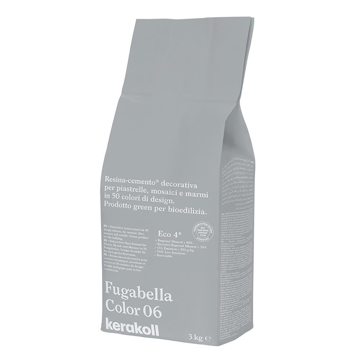 Stucco in polvere FUGABELLA COLOR KERAKOLL 3 kg grigio chiaro - 2