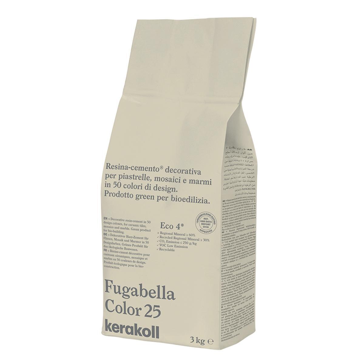 Stucco in polvere FUGABELLA COLOR KERAKOLL 3 kg tortora - 2