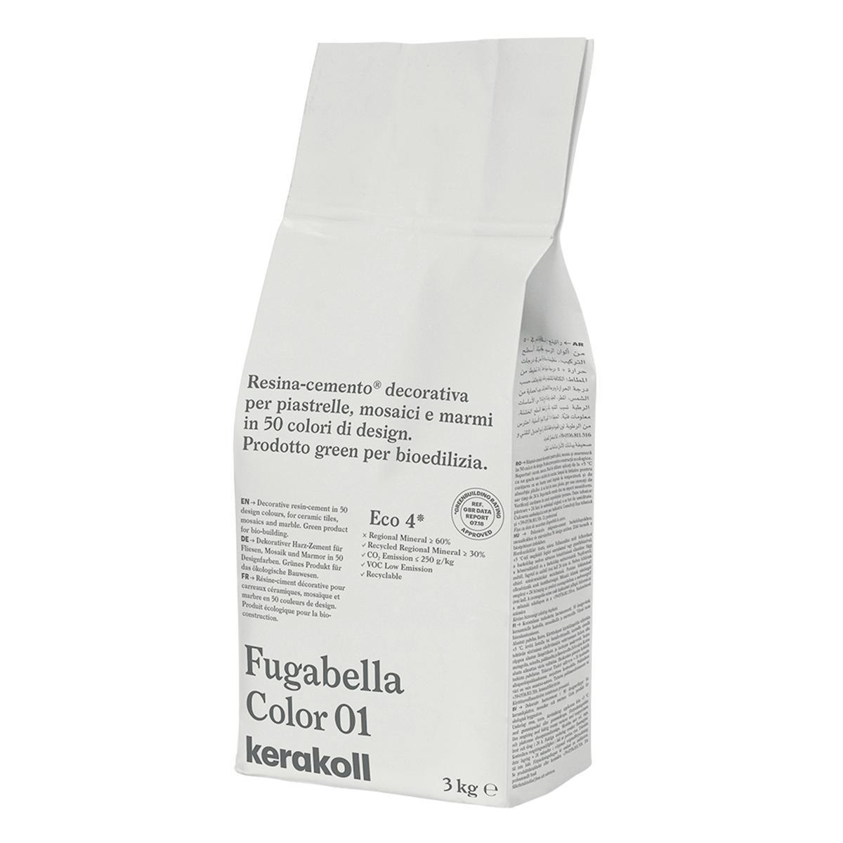 Stucco in polvere FUGABELLA COLOR KERAKOLL 3 kg bianco - 2