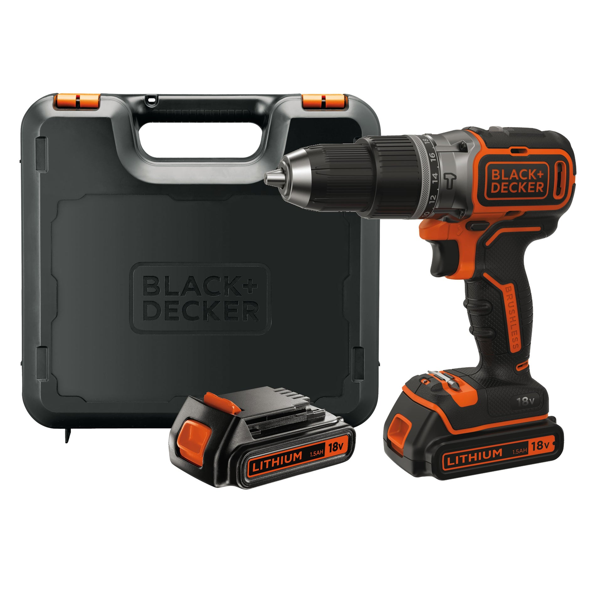 Trapano avvitatore a batteria BLACK + DECKER BL188KB-QW 18 V, 1.5 Ah, 2 batterie - 9