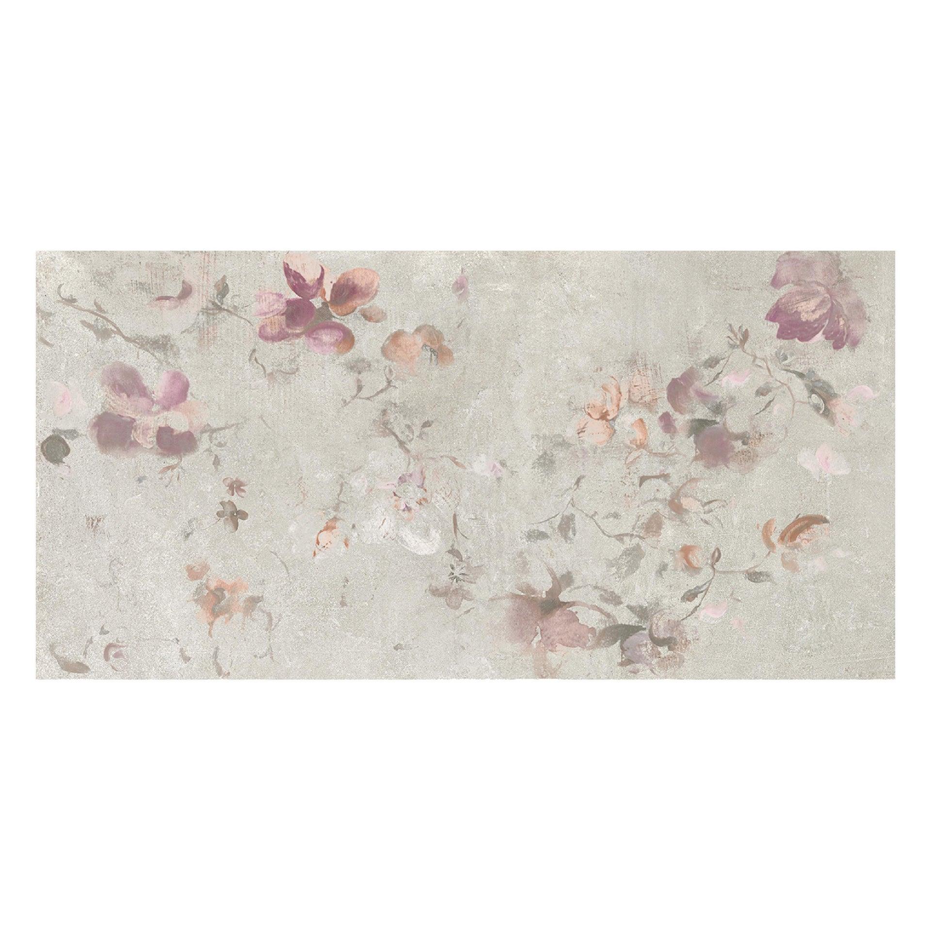 Piastrella City Grey Decoro Flower 60 x 120 cm sp. 9.5 mm PEI 4/5 grigio - 4