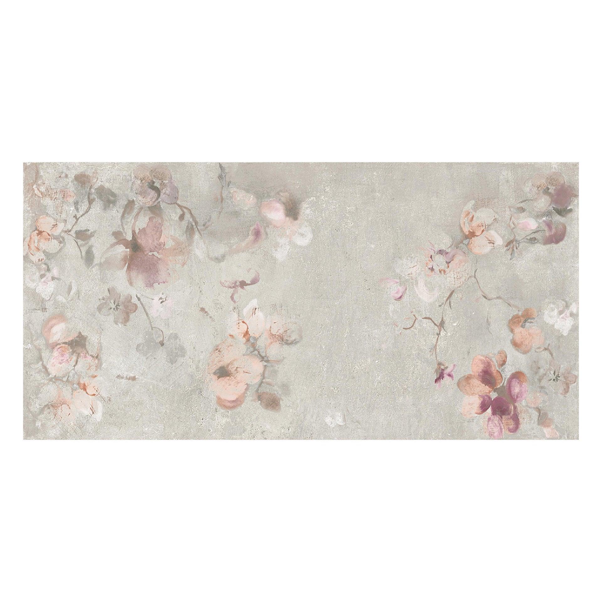 Piastrella City Grey Decoro Flower 60 x 120 cm sp. 9.5 mm PEI 4/5 grigio - 12