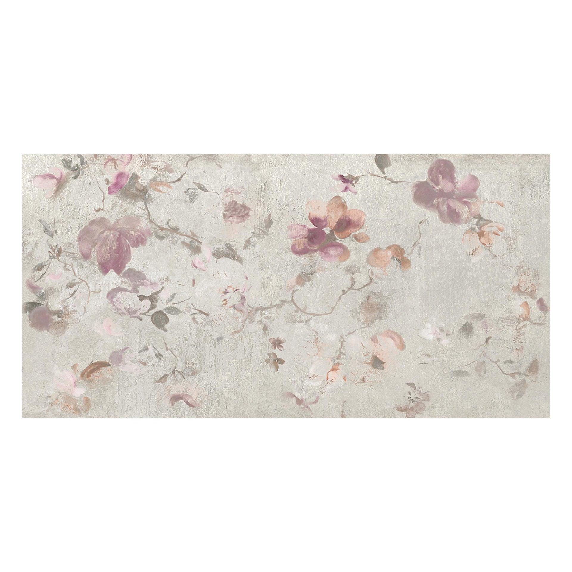 Piastrella City Grey Decoro Flower 60 x 120 cm sp. 9.5 mm PEI 4/5 grigio - 3