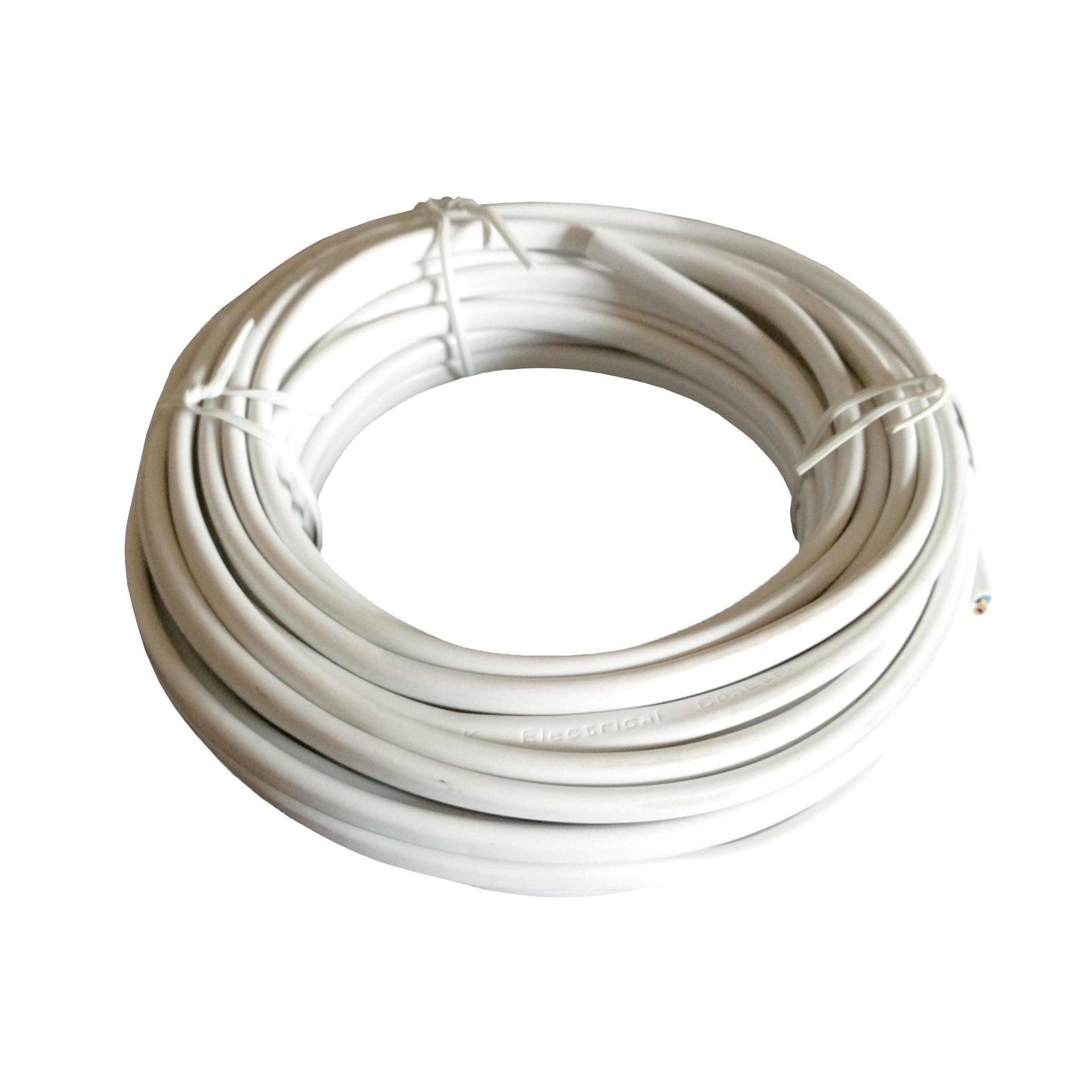 Cavo elettrico bianco H03VVH2-F 2 fili x 0,75 mm² 5 m LEXMAN Matassa - 1