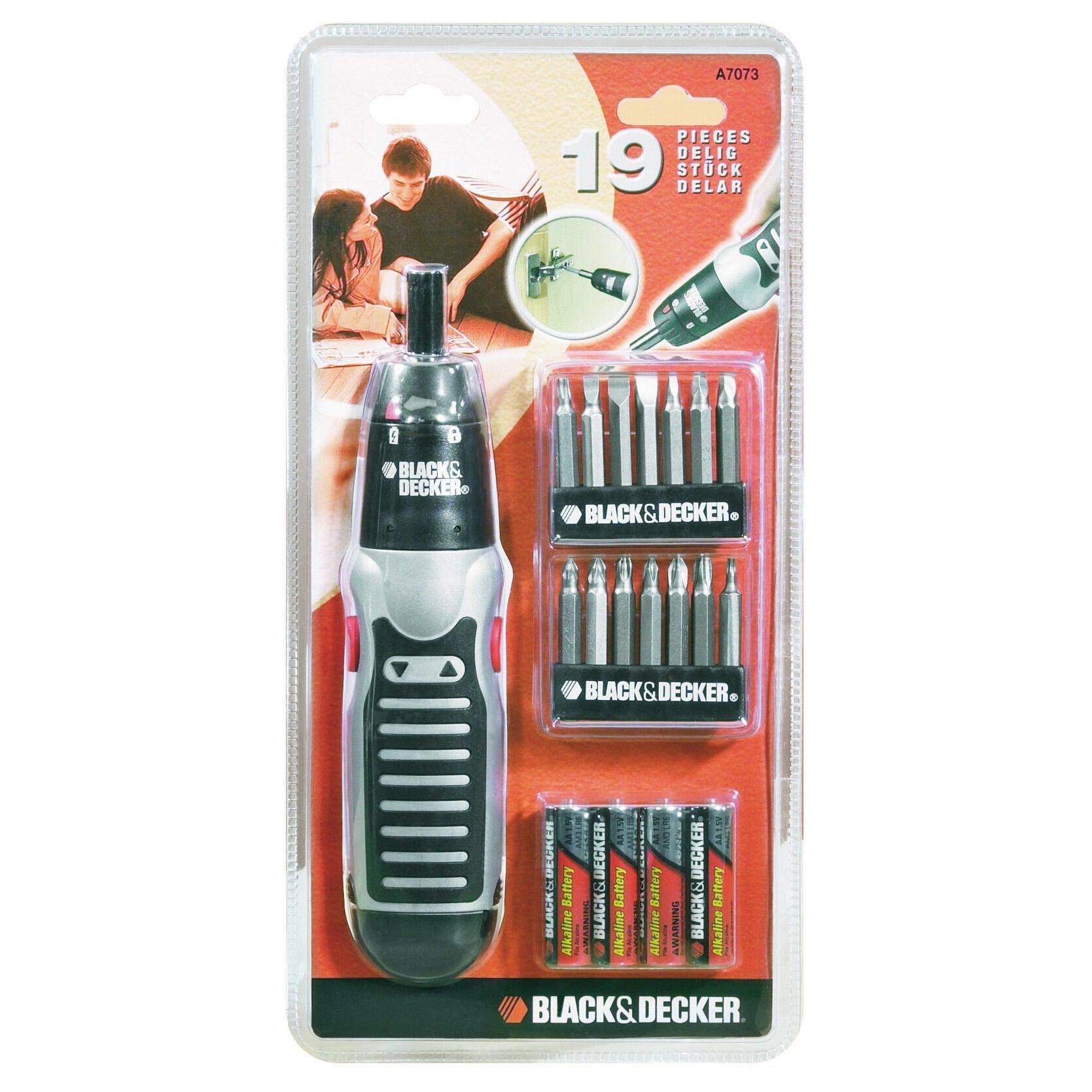 Kit di utensili BLACK + DECKER A7073-XJ 19 pezzi
