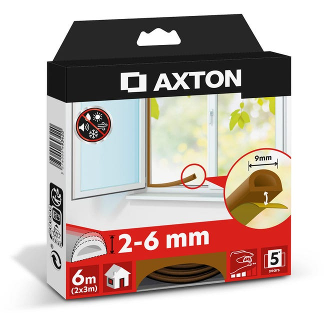 Guarnizione autoadesivo AXTON strip marrone - 1