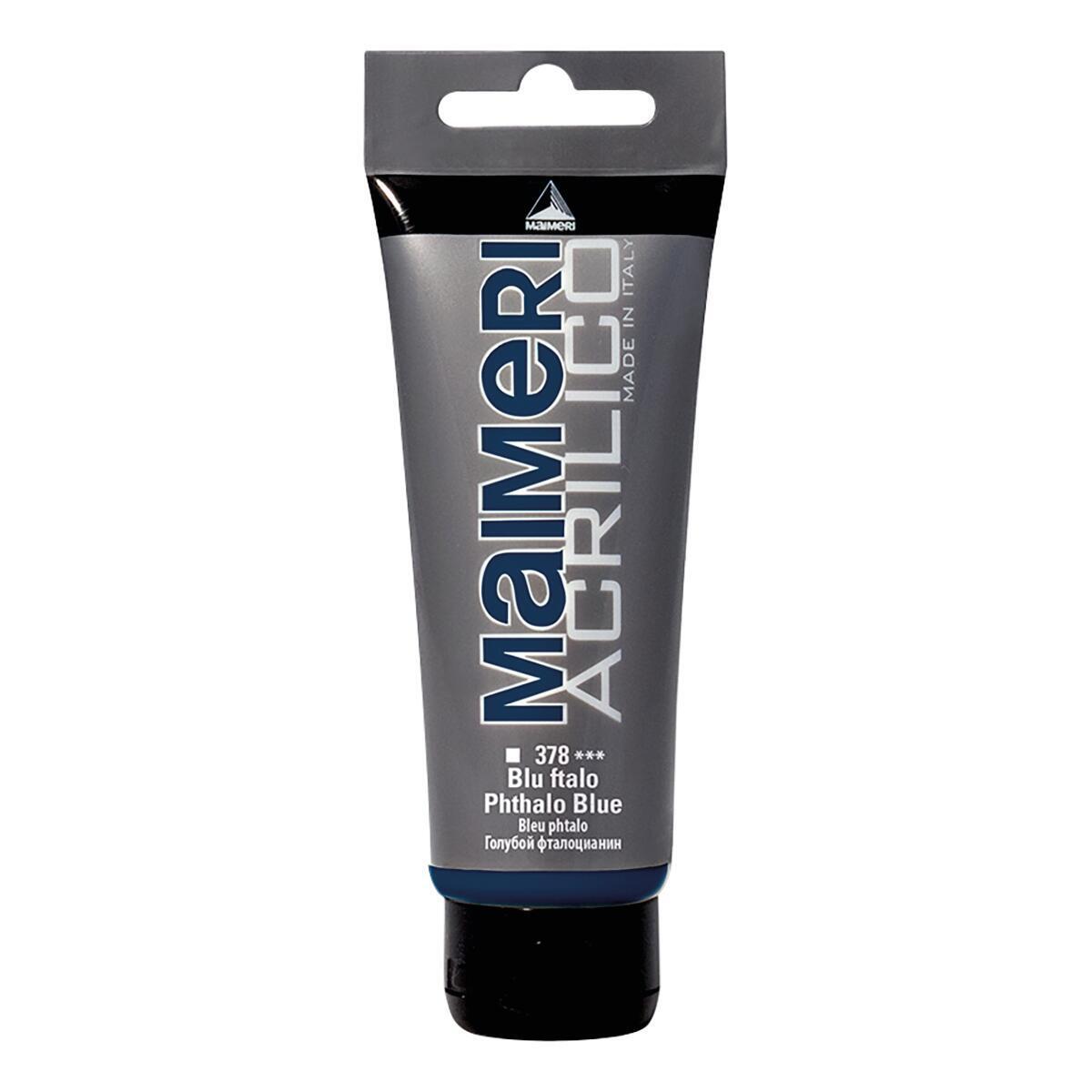 Colore acrilico MAIMERI   0.75 L blu ftalo