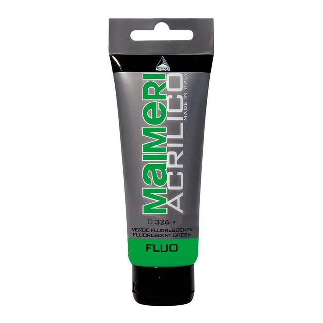 Colore acrilico MAIMERI 0.75 L verde fluorescente - 1