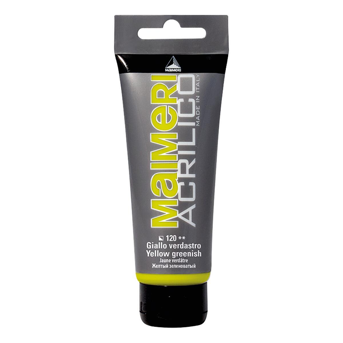 Colore acrilico MAIMERI    0.75 L giallo verdastro