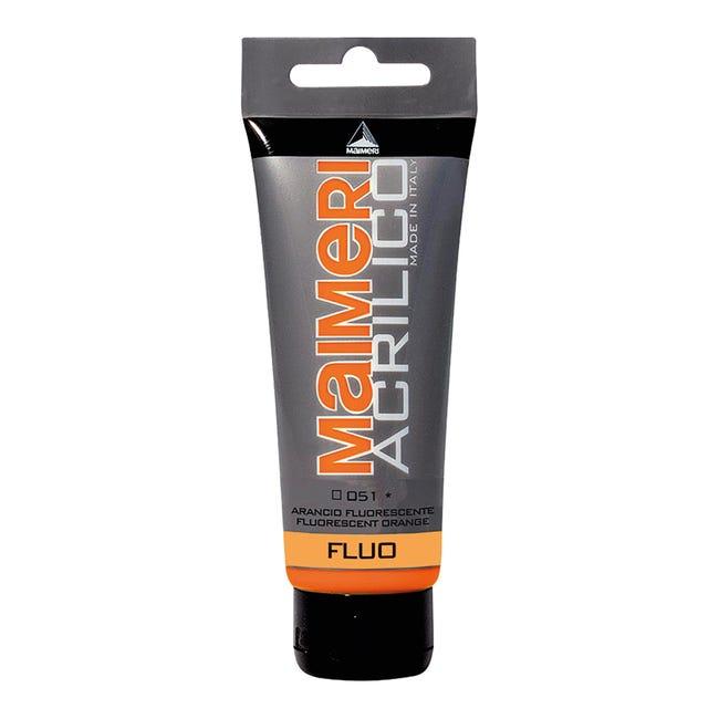 Colore acrilico MAIMERI 0.75 L arancio fluorescente - 1