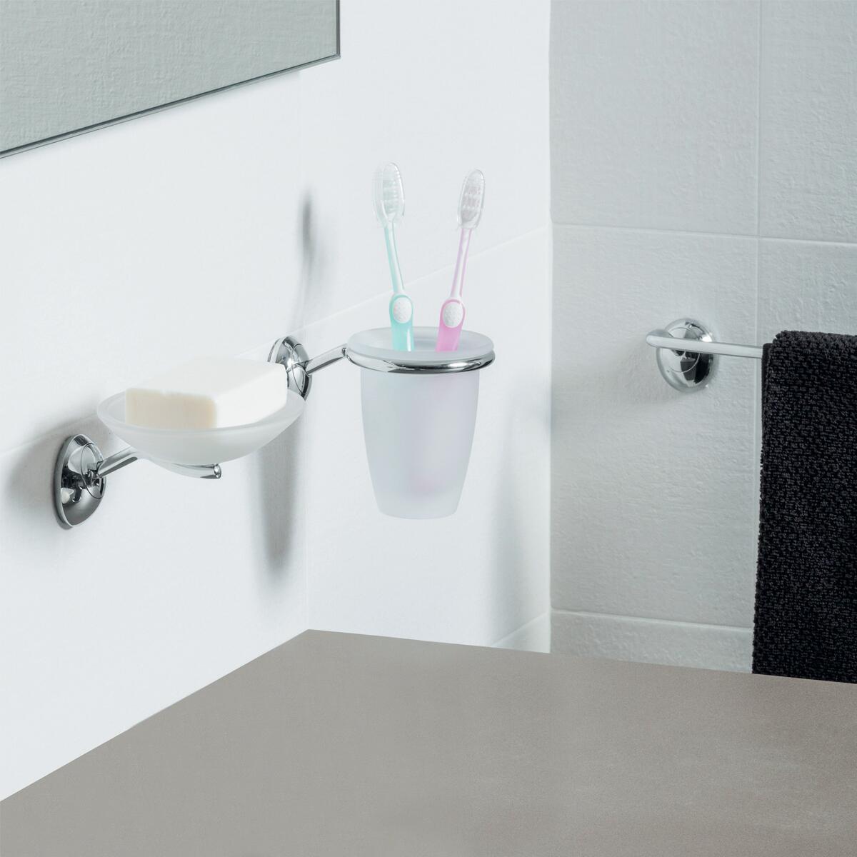 Porta scopino wc a muro Stile in zama cromo - 2