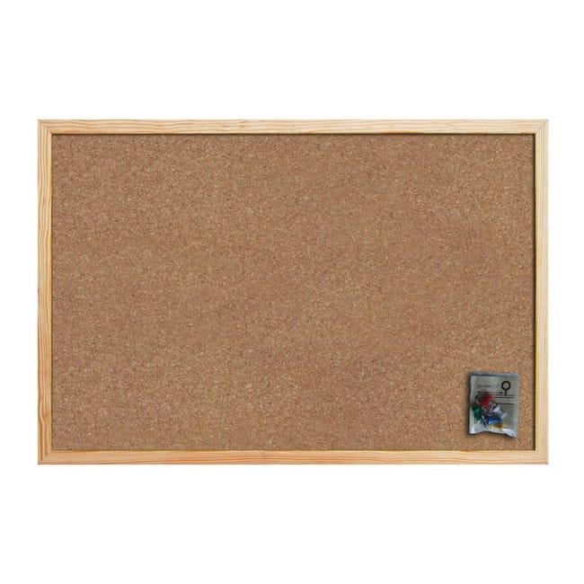 Bacheca in sughero Cornice naturale 60x45 cm - 1