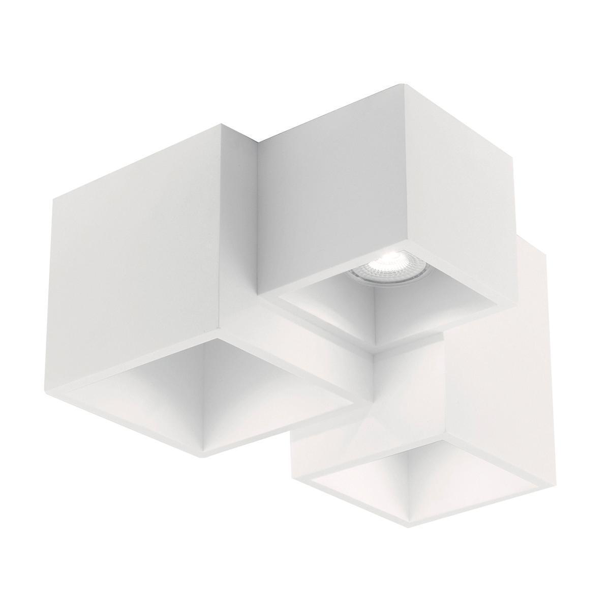 Plafoniera design Foster bianco, in gesso, 3 luci INTEC - 1