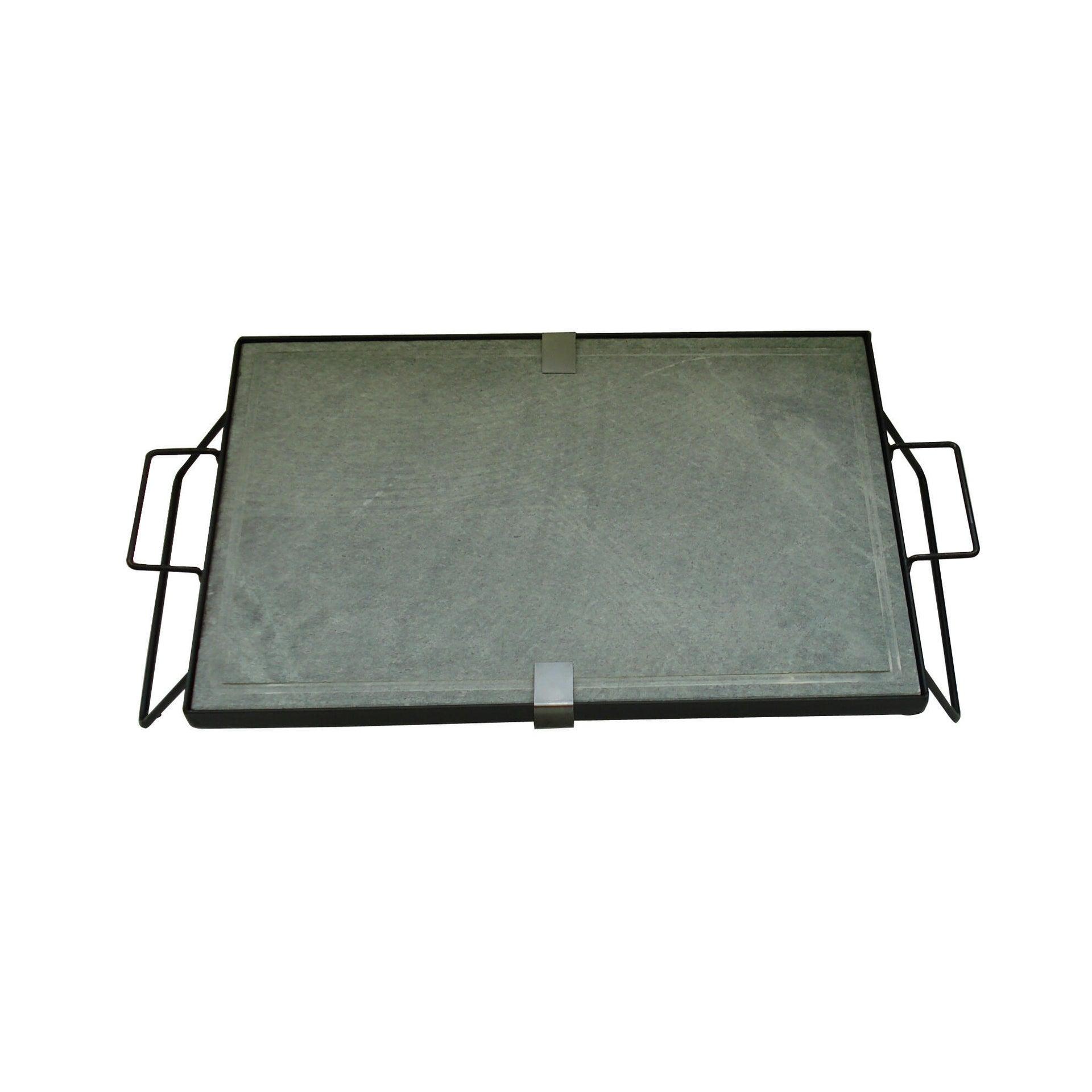 Pietra per barbecue in pietra ollare L 60 x P 40 cm - 2