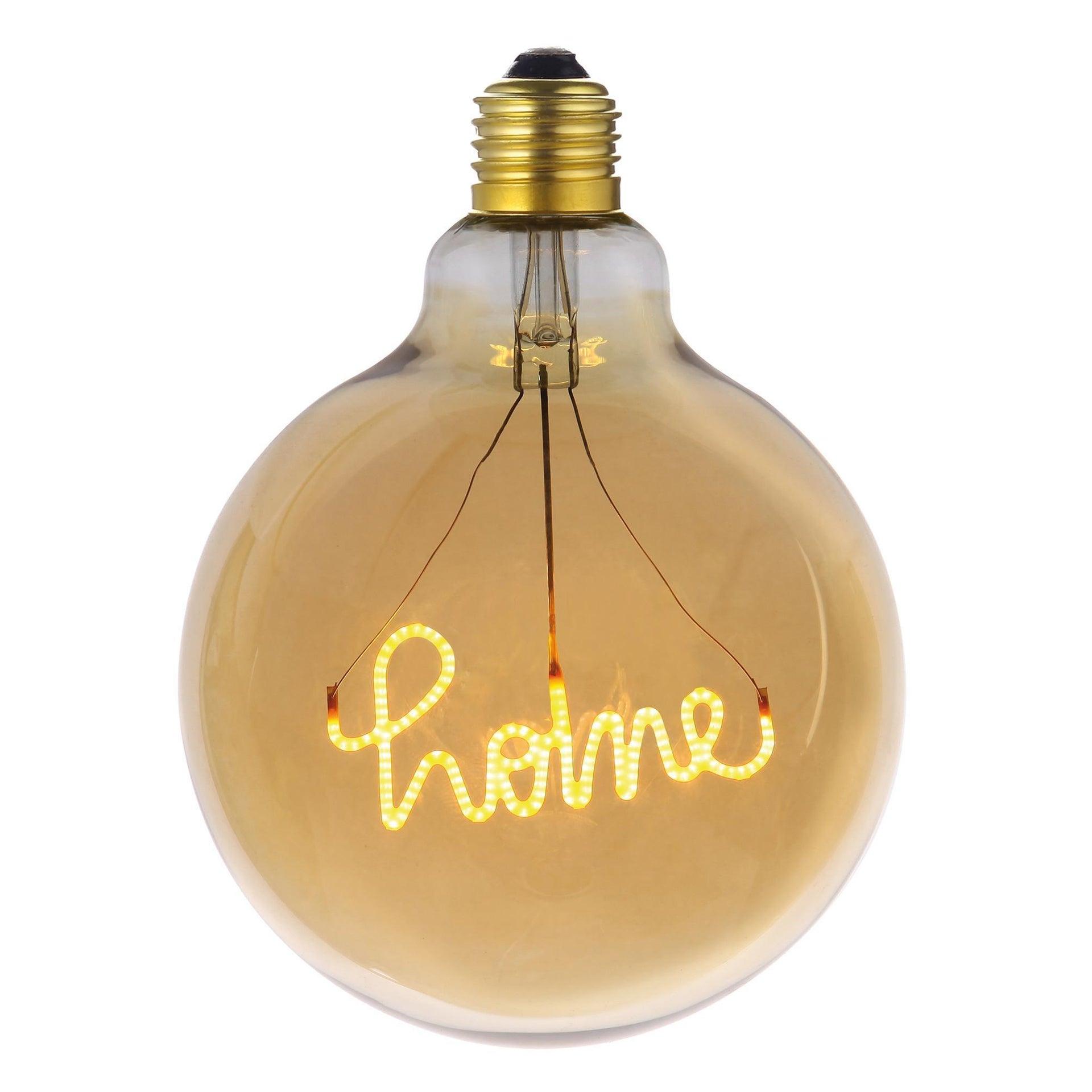 Lampadina decorativa LED, Script Home, E27, Globo, Ambra, Luce calda, 4W=200LM (equiv 4 W), 270° - 1