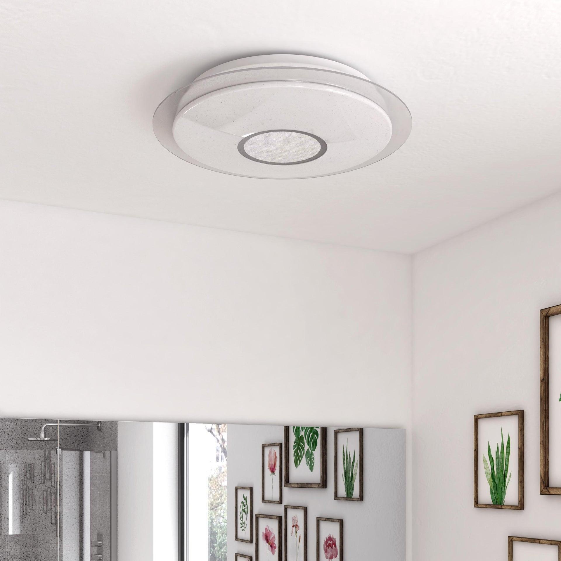 Plafoniera moderno Vizzini LED integrato bianco D. 40 cm 40x40 cm, INSPIRE - 8
