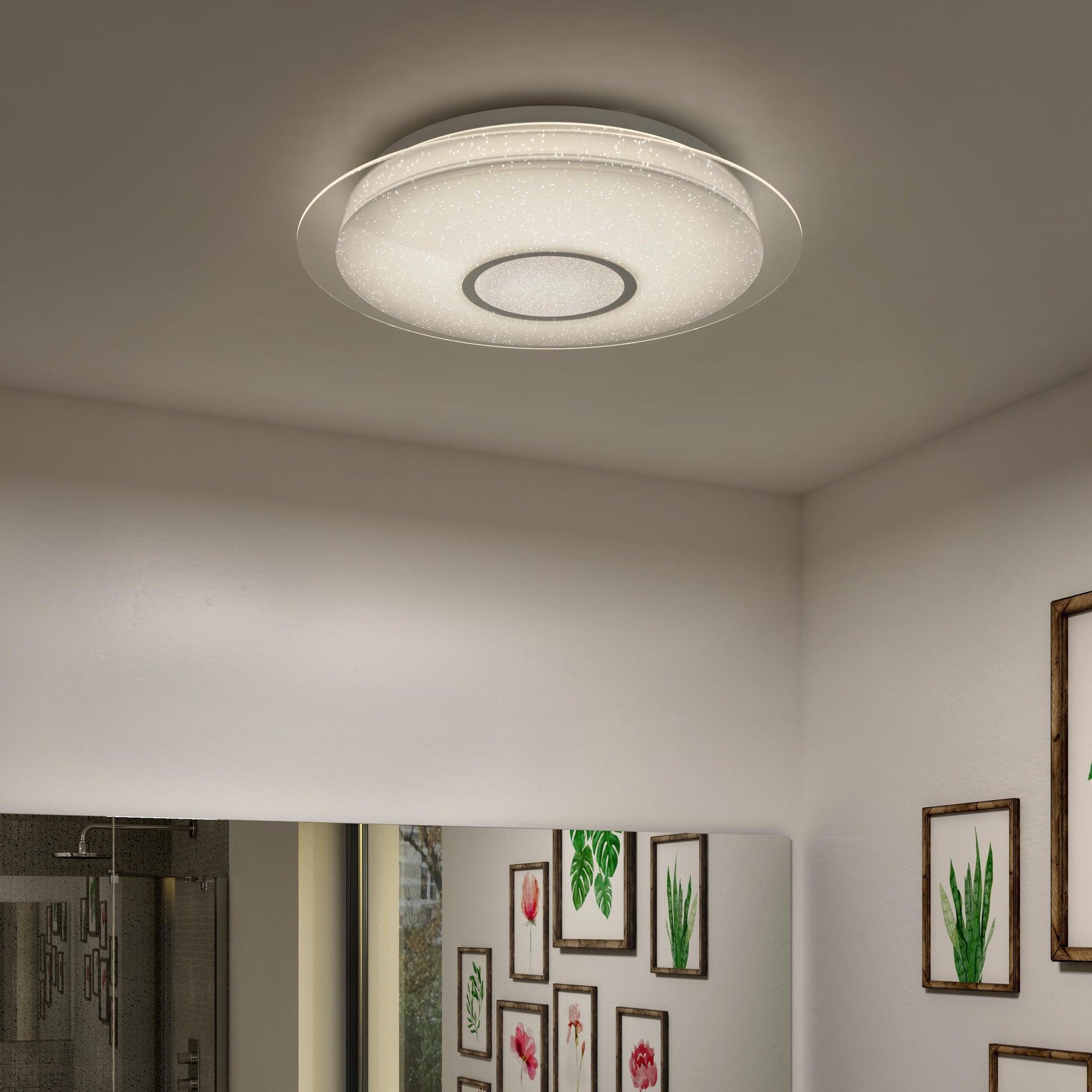 Plafoniera moderno Vizzini LED integrato bianco D. 40 cm 40x40 cm, INSPIRE - 3