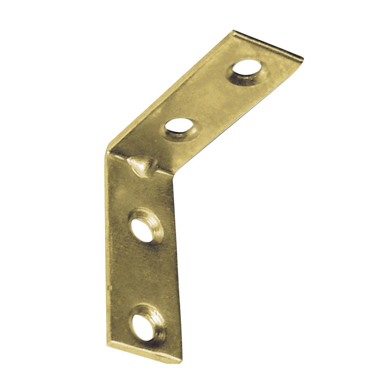 Piastra angolare STANDERS in acciaio zincato L 90 x Sp 2 x H 15 mm  4 pezzi