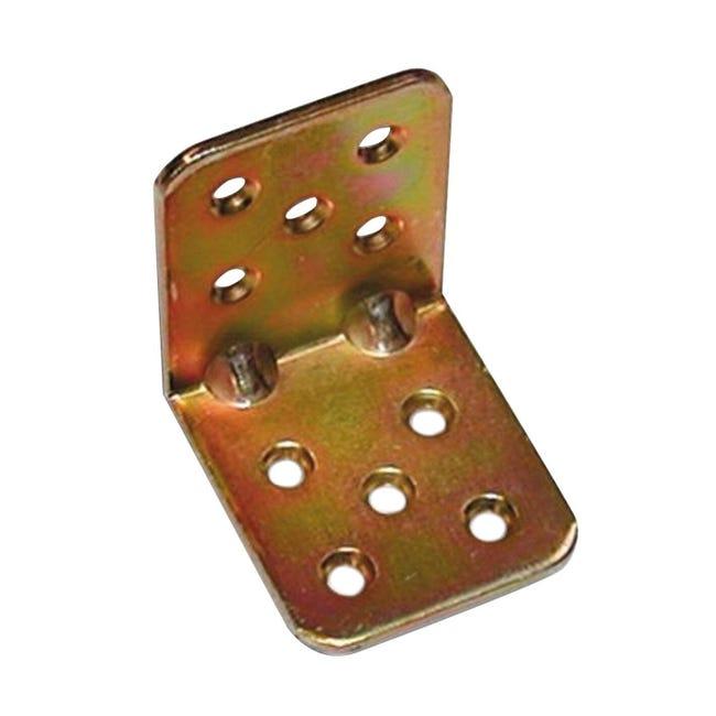 Piastra angolare STANDERS in acciaio zincato L 45 x Sp 2.5 x H 40 mm - 1