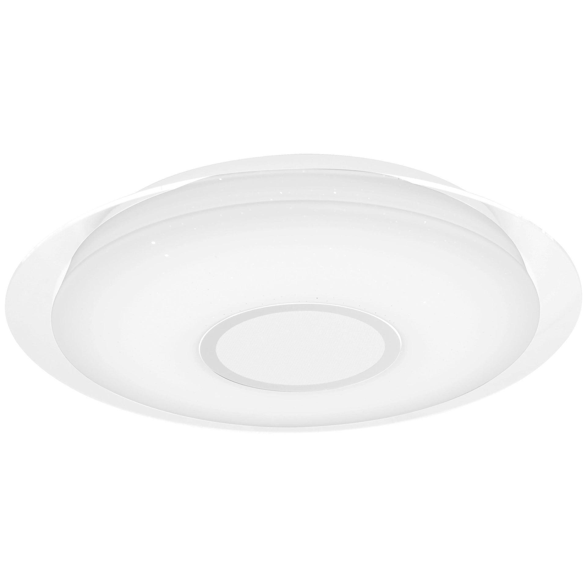 Plafoniera moderno Vizzini LED integrato bianco D. 40 cm 40x40 cm, INSPIRE - 11