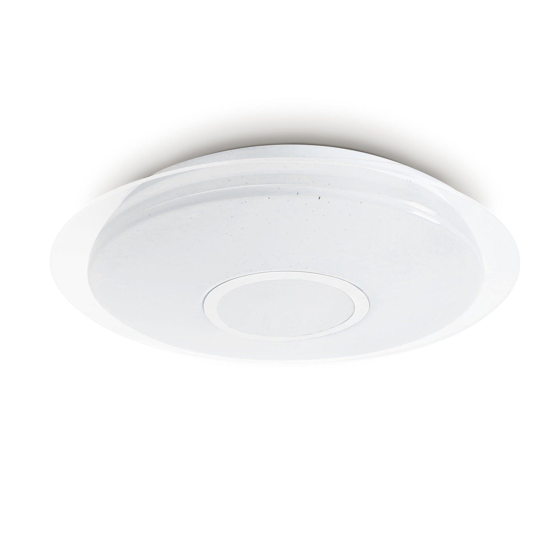 Plafoniera moderno Vizzini LED integrato bianco D. 40 cm 40x40 cm, INSPIRE - 7