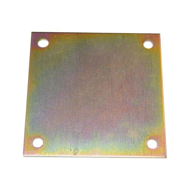 Piastra angolare STANDERS in acciaio zincato L 150 x Sp 4 x H 150 mm - 1