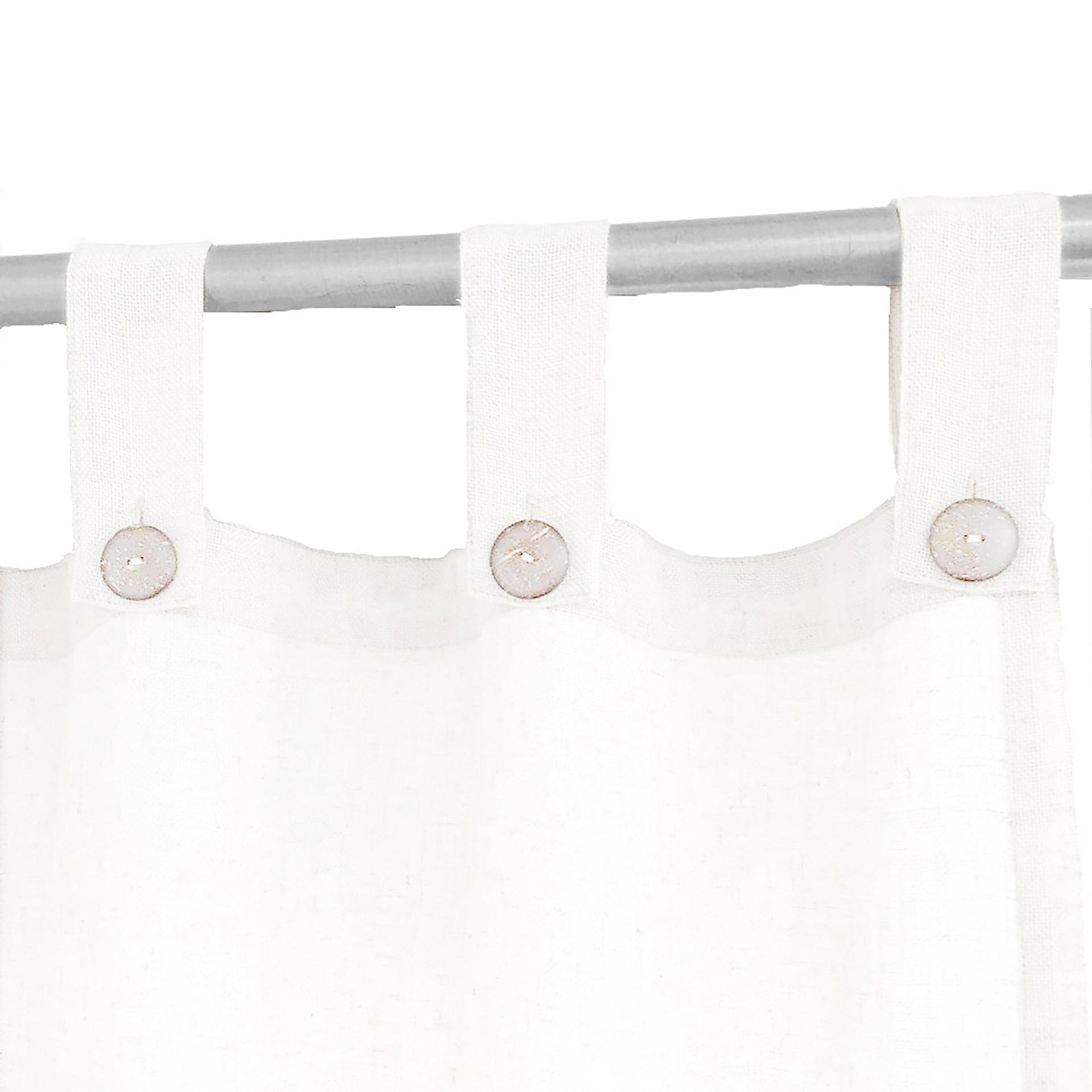 Tenda INSPIRE Charlina bianco passanti 140 x 280 cm - 8