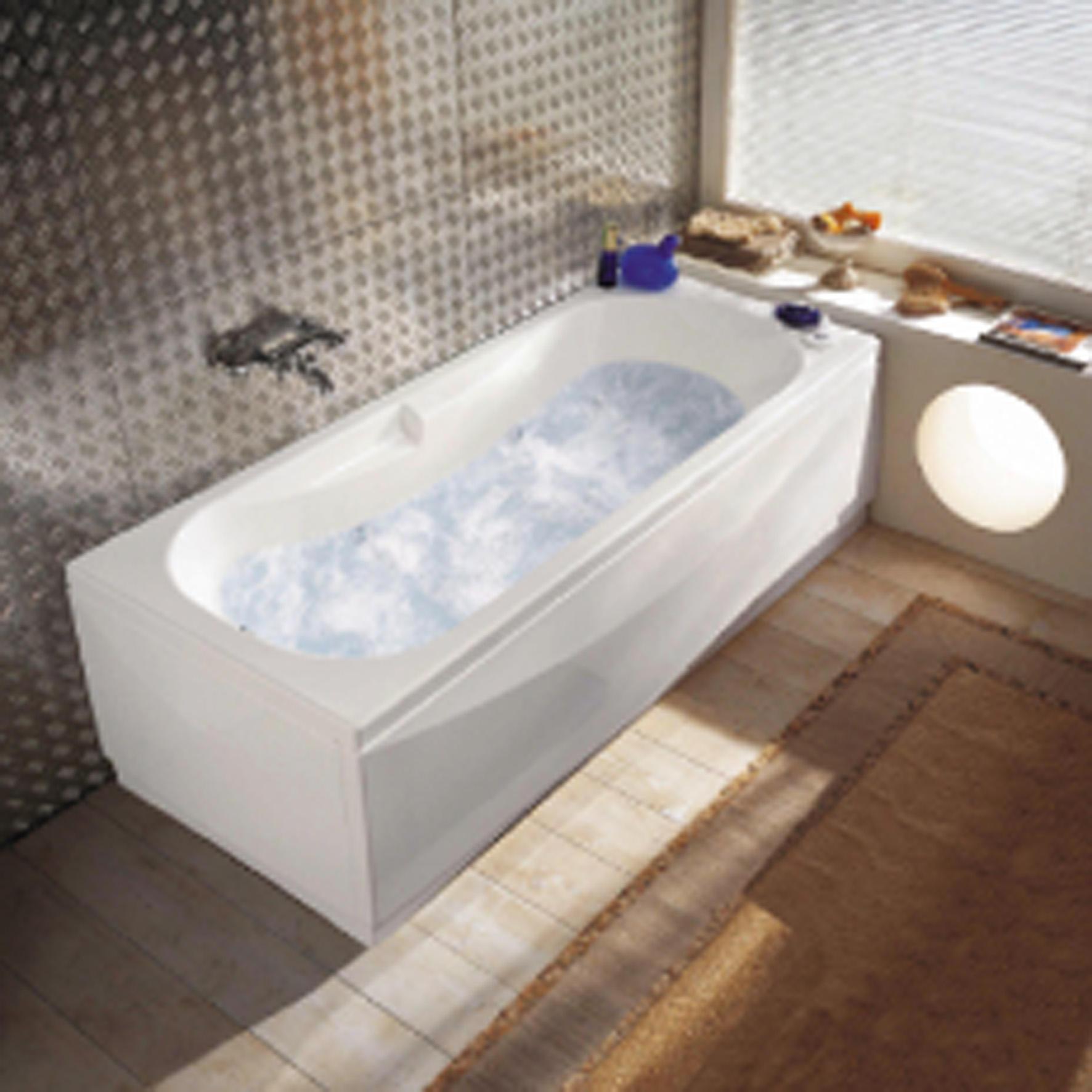 Vasca idromassaggio rettangolare Egeria,bianco ,170, 70 cm, 6 bocchette, - 1