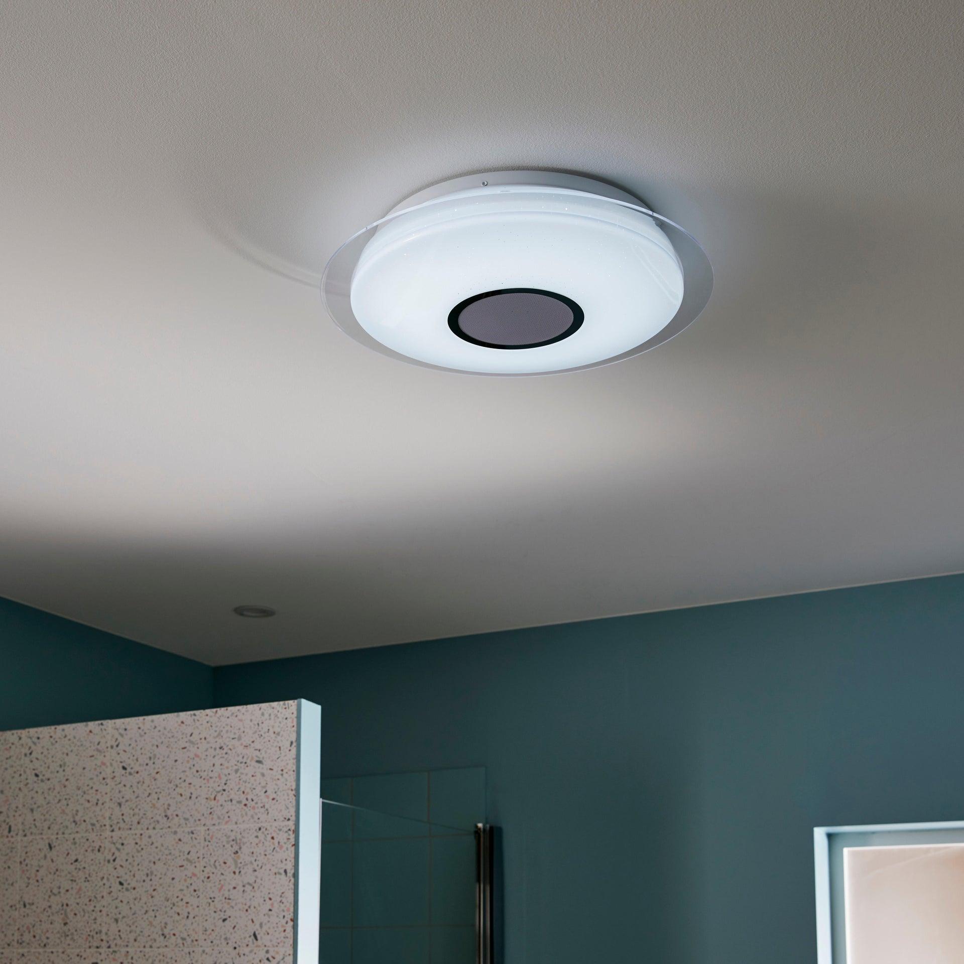 Plafoniera moderno Vizzini LED integrato bianco D. 40 cm 40x40 cm, INSPIRE - 13