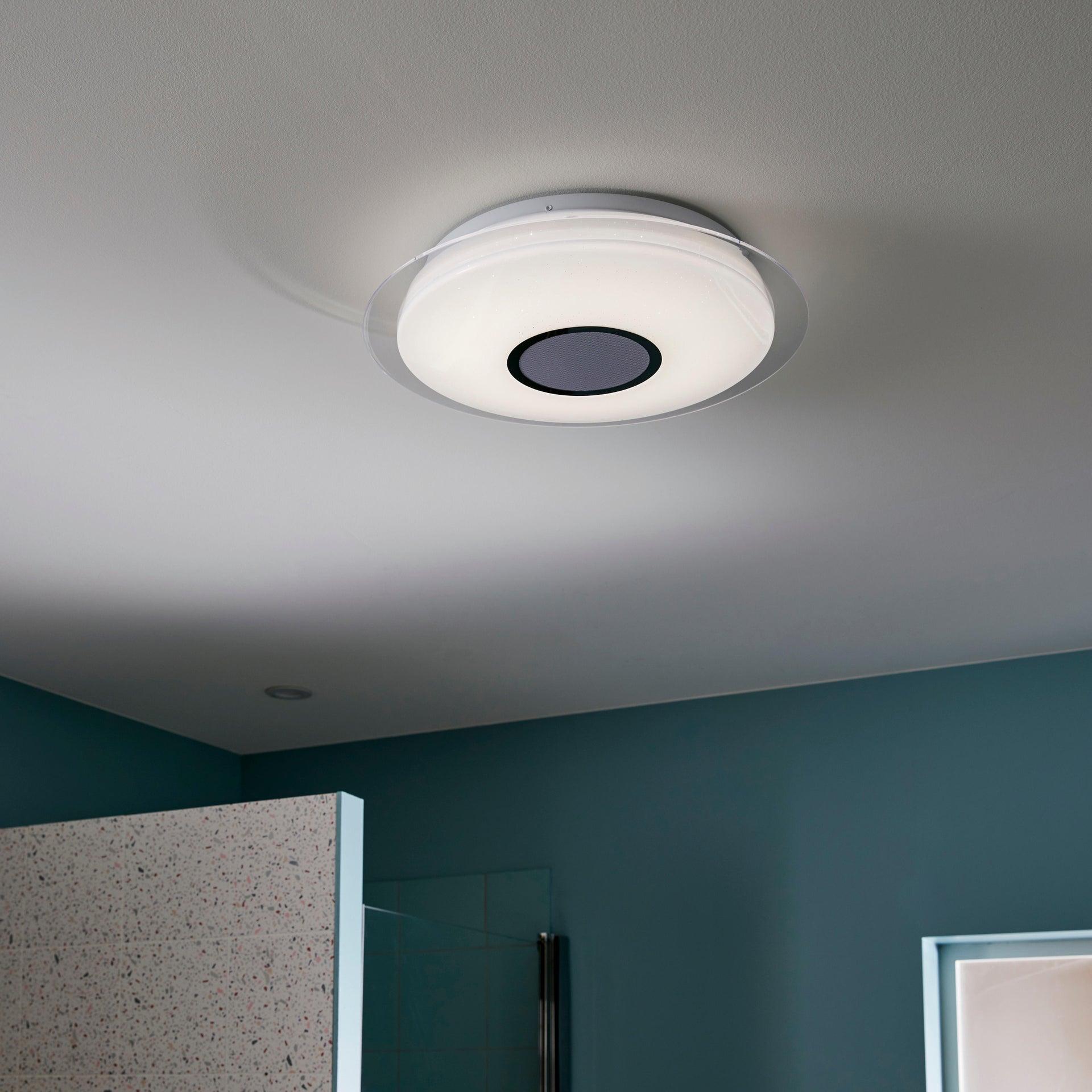 Plafoniera moderno Vizzini LED integrato bianco D. 40 cm 40x40 cm, INSPIRE - 1