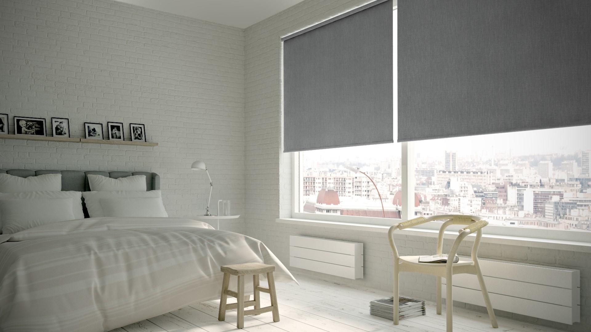 Tenda a rullo oscurante Texture grigio 150 x 250 cm - 2