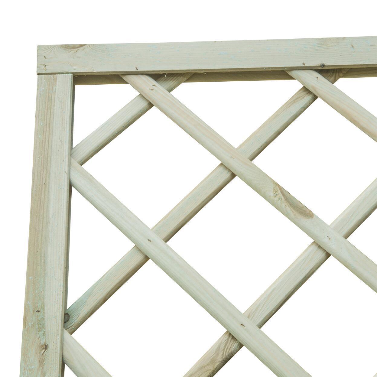 Pannello reticolato in legno Diagonale 90 x 180 cm - 4