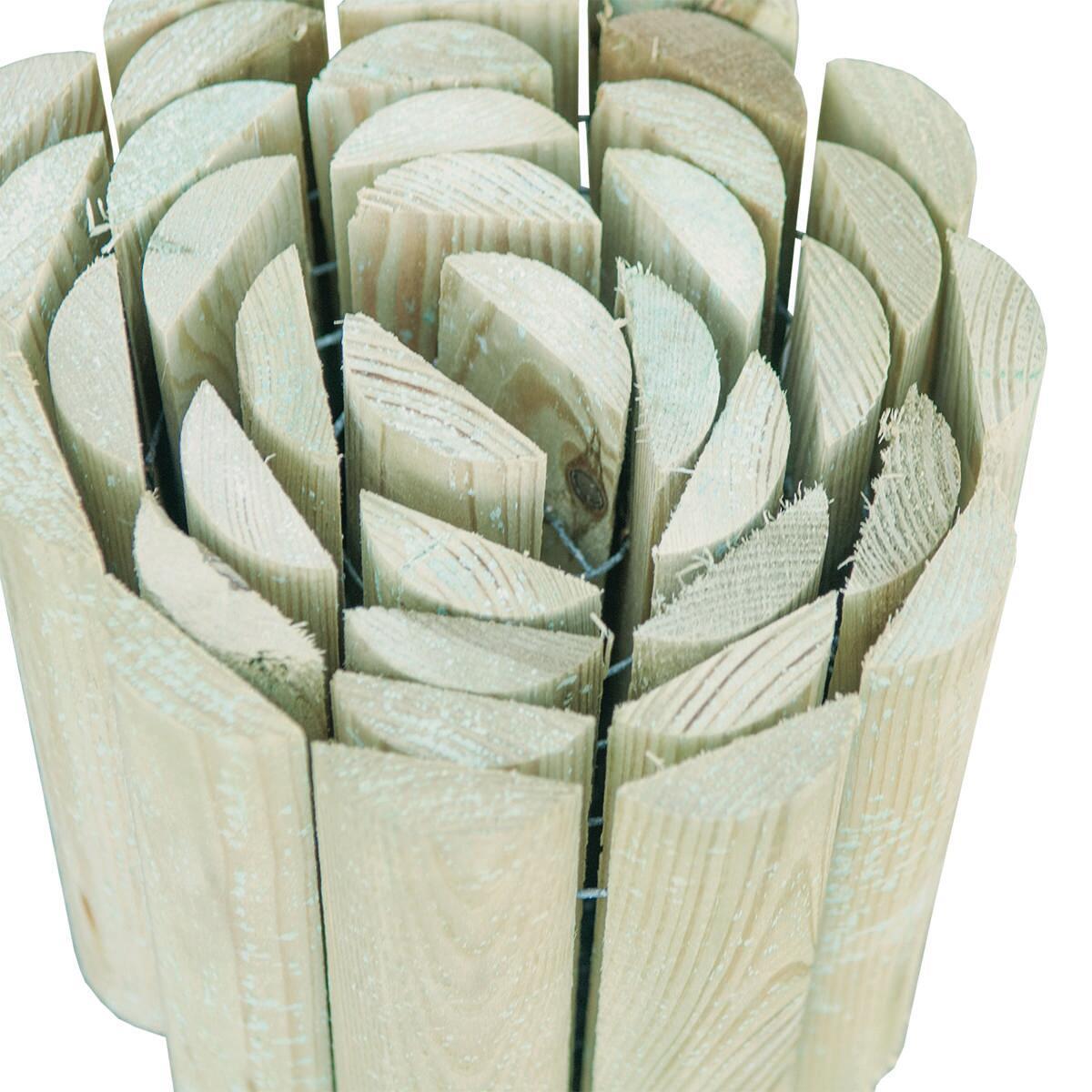Bordura in rotolo in legno L 180 x H 20 cm Sp 1.4 cm - 2