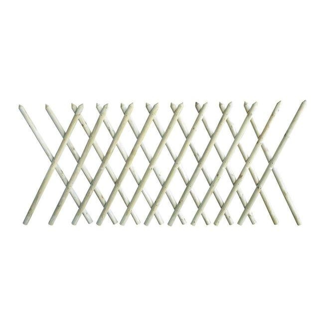 Recinzione incrociata in legno L 225 x H 100 x P 4.6 cm - 1