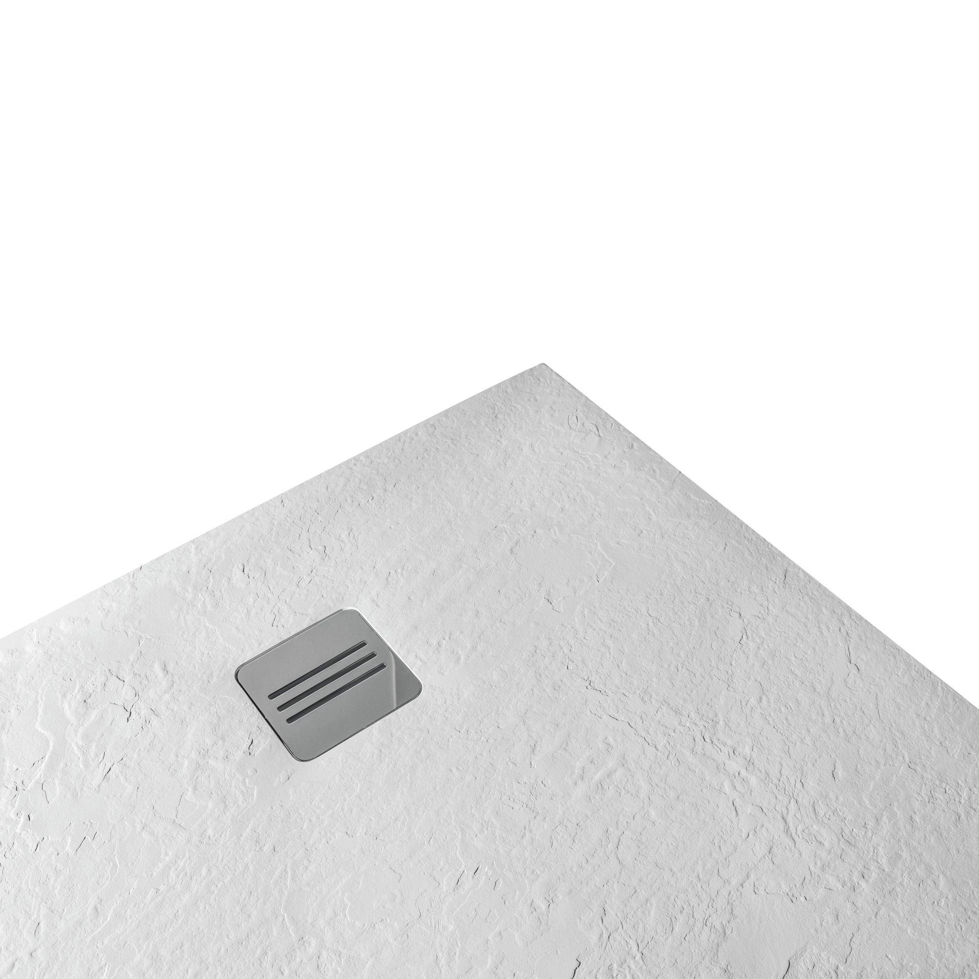 Piatto doccia ultrasottile resina sintetica e polvere di marmo Remix 70 x 120 cm bianco - 2