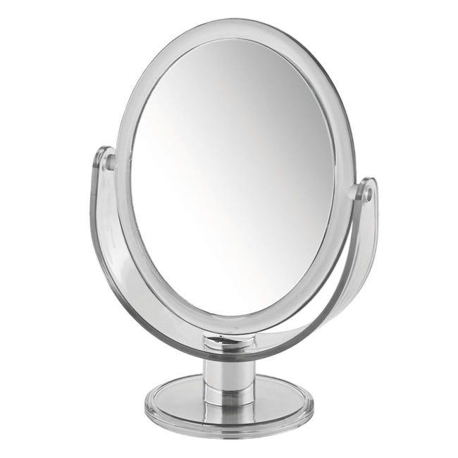 Specchio Ingranditore Ovale L 17 5 X H 25 Cm Gedy Leroy Merlin