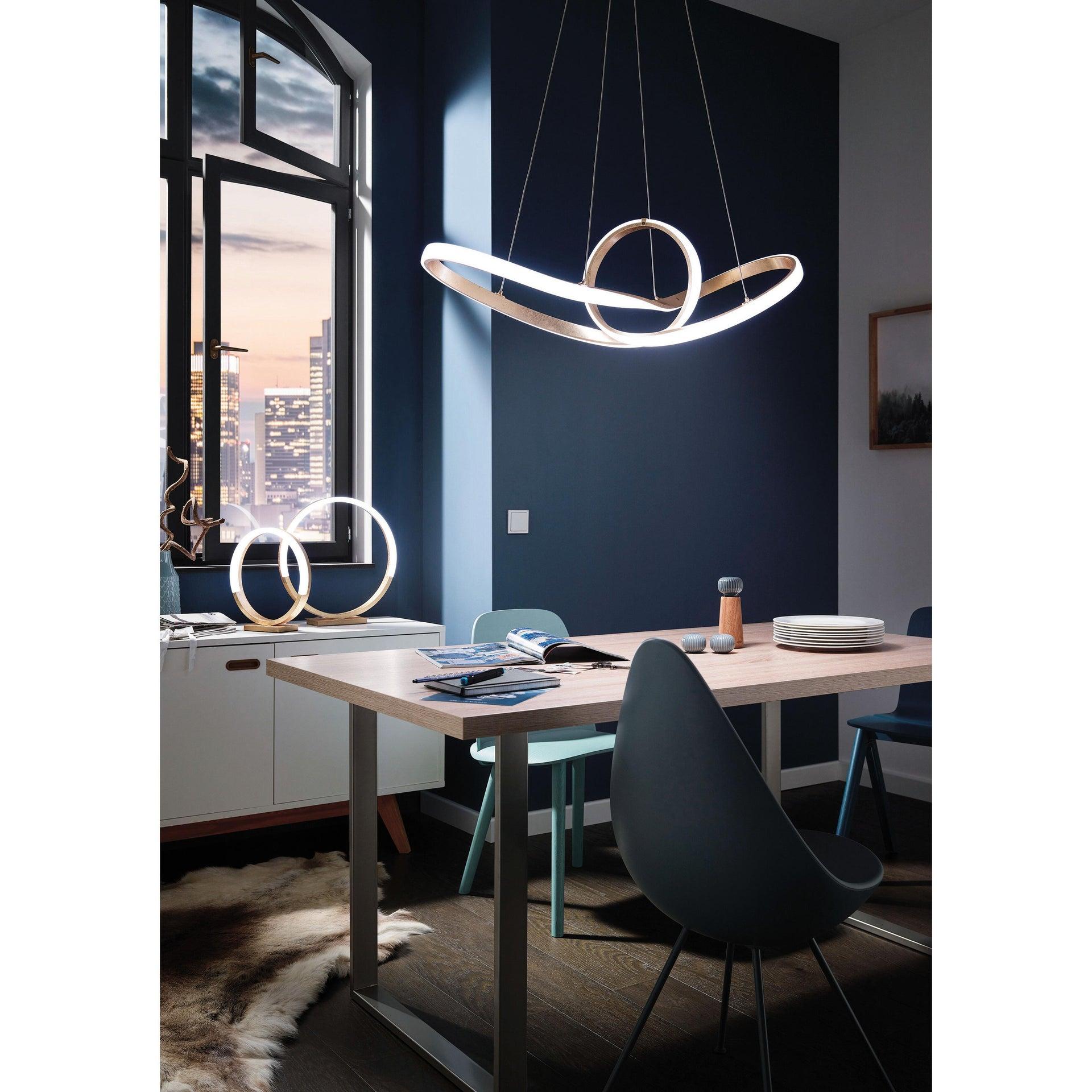 Lampadario Glamour Missoni LED integrato oro, in metallo, D. 92 cm, L. 92 cm, ACTION - 1