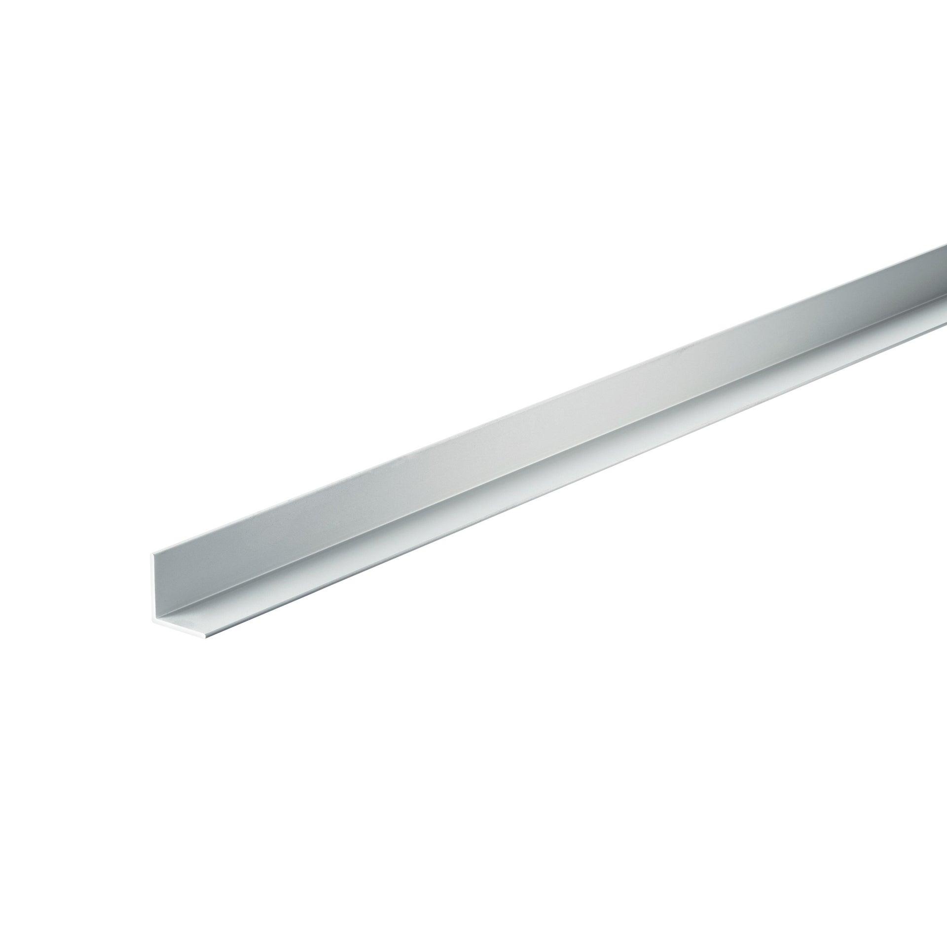 Profilo angolare simmetrico in alluminio 2 m x 1.5 cm argento
