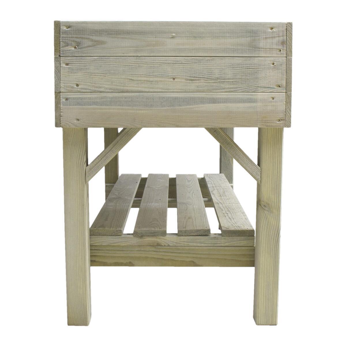 Fioriera per orto in legno verde L 120 x P 60 x H 80 cm - 3