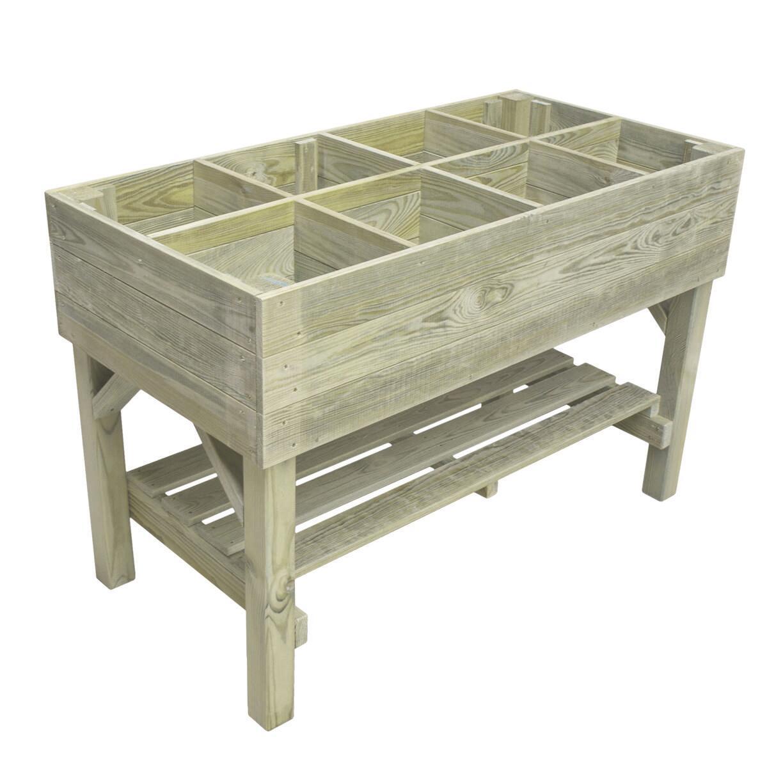 Fioriera per orto in legno verde L 120 x P 60 x H 80 cm - 4