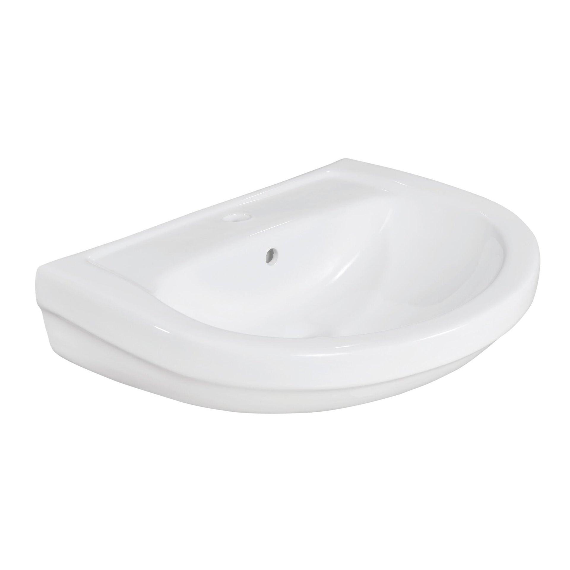 Lavabo Lake L 60 x P 45.5 cm in ceramica bianco