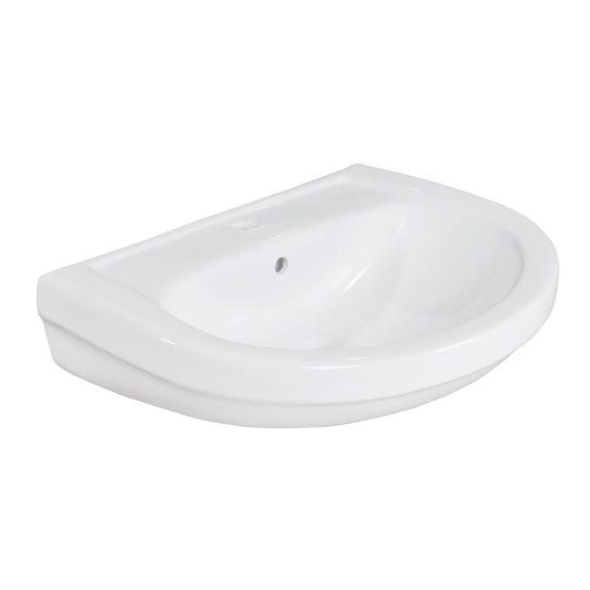 Lavabo Lake L 60 x P 45.5 cm in ceramica bianco - 1