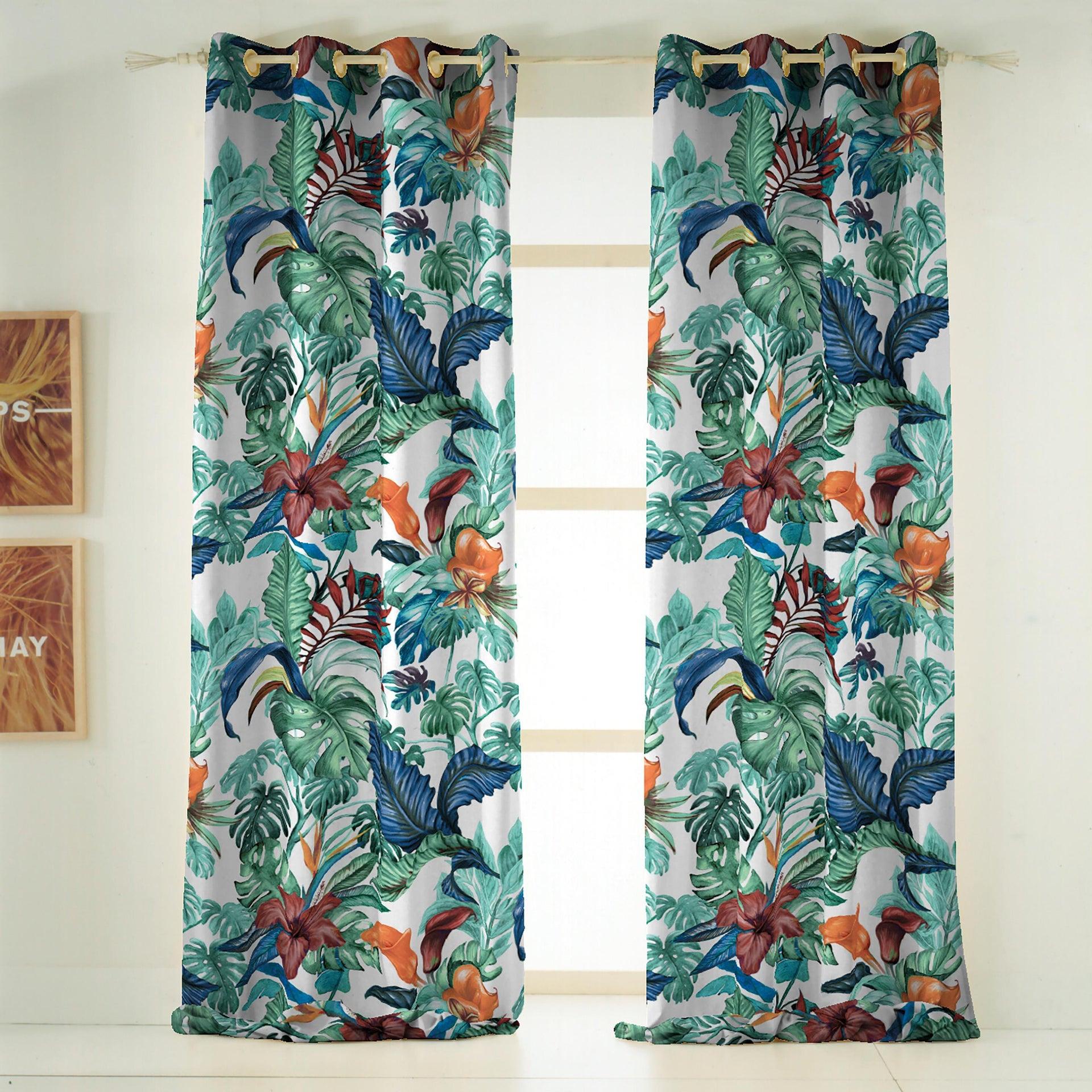 Tenda INSPIRE Malibù verde occhielli 140 x 270 cm - 2