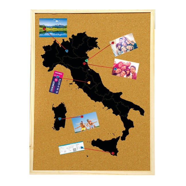 Bacheca Italia beige 60x90 cm - 1