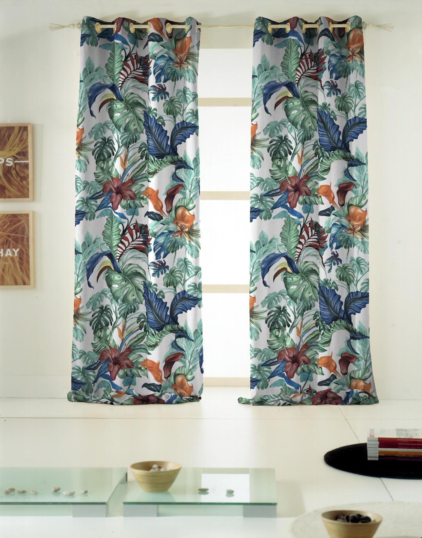Tenda INSPIRE Malibù verde occhielli 140 x 270 cm - 5