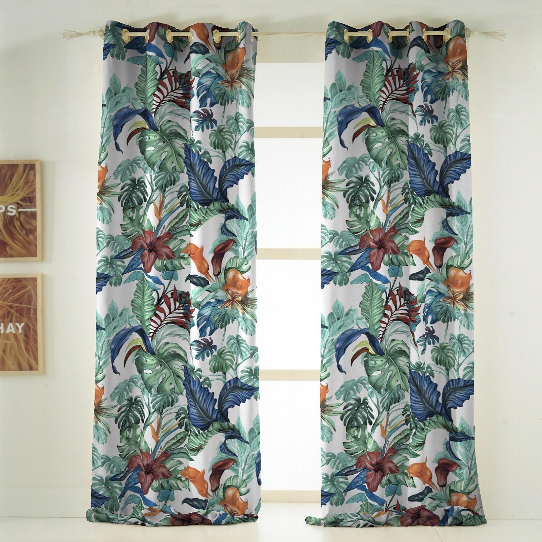 Tenda INSPIRE Malibù verde occhielli 140 x 270 cm - 4