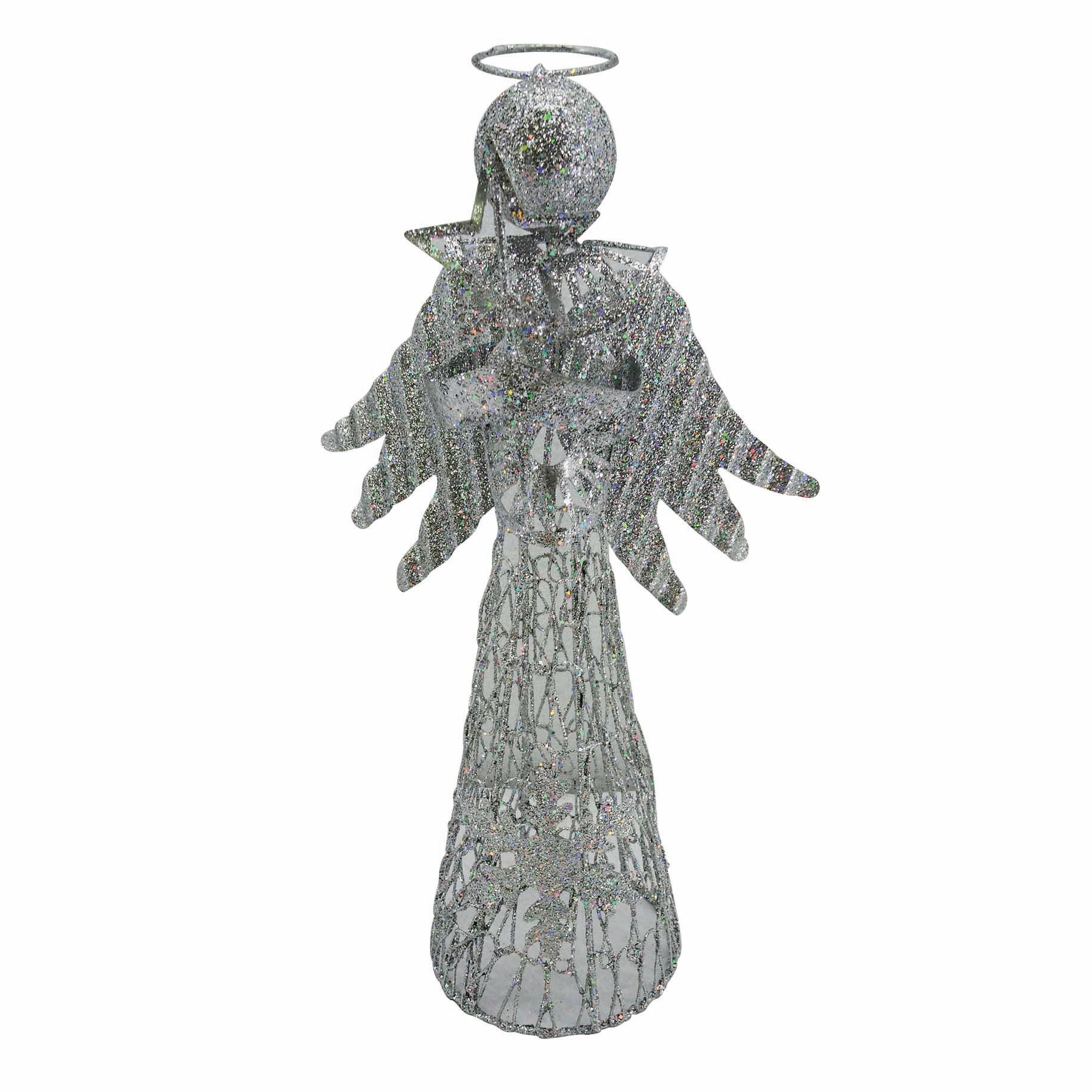 Puntale per albero di natale Angelo color argento, h 30 cm grigio / argentoin metallo