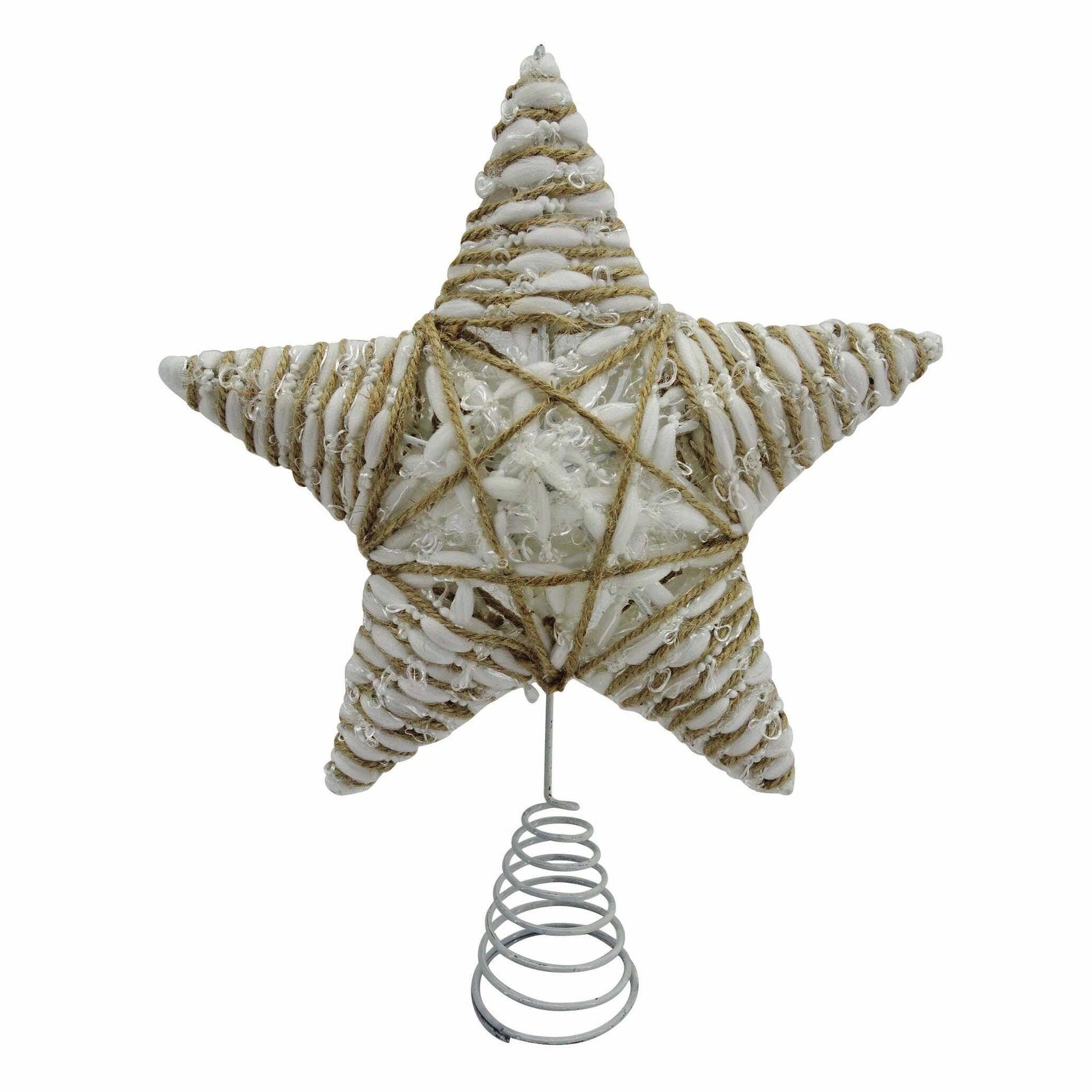Puntale per albero di natale Stella multicolorein metallo H 31 cm