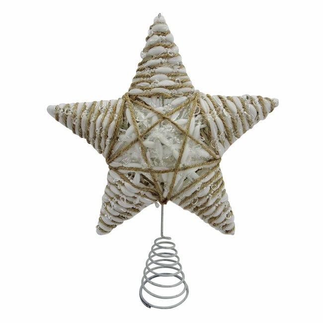 Puntale per albero di natale Stella multicolorein metallo H 31 cm - 1